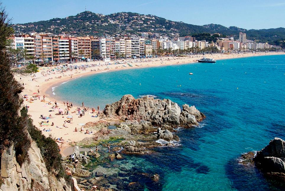 Пляж Льорет в Каталонии
